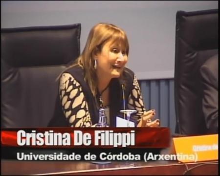 Cristina de Filippi, catedrática de Dereito Romano da Universidade Católica de Córdoba (Arxentina).